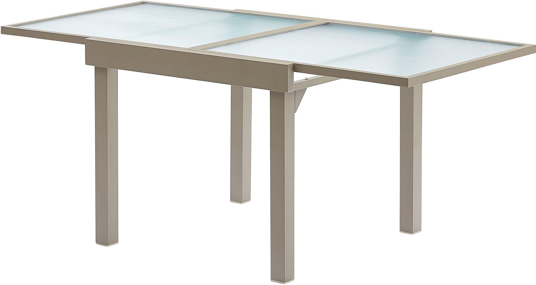 table jardin modulo 4 8 personnes taupe. Black Bedroom Furniture Sets. Home Design Ideas