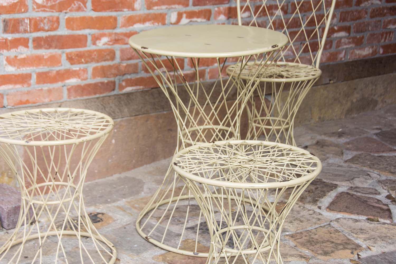 table de jardin fil de fer 50 cm. Black Bedroom Furniture Sets. Home Design Ideas