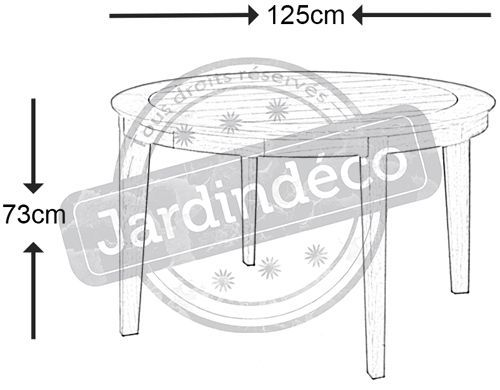 Table de jardin ronde Tivoli 125cm-1