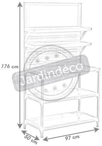 table de jardinage en bois vieilli et zinc. Black Bedroom Furniture Sets. Home Design Ideas