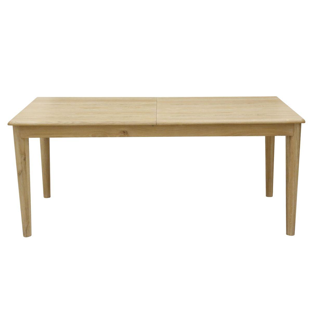 table manger plaqu ch ne et ch ne blanchi kol. Black Bedroom Furniture Sets. Home Design Ideas