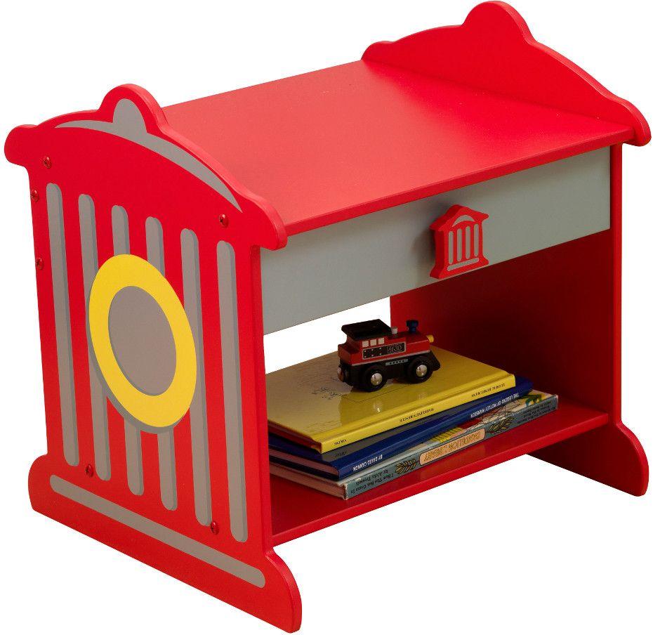 table de nuit pompier. Black Bedroom Furniture Sets. Home Design Ideas