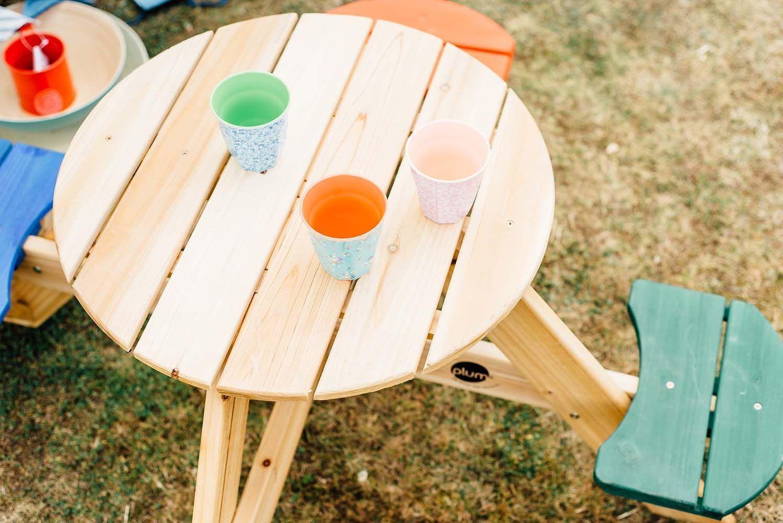 table de pique nique ronde en bois. Black Bedroom Furniture Sets. Home Design Ideas