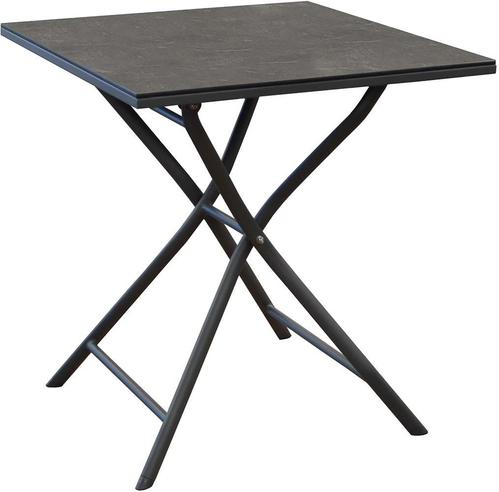 Table pliante en aluminium azuro 70 cm gris - Table pliante aluminium ...