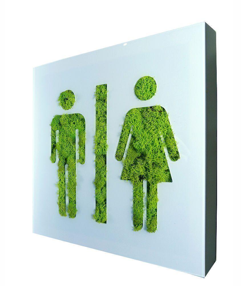 Tableau végétal picto homme femme en lichen stabilisé 2