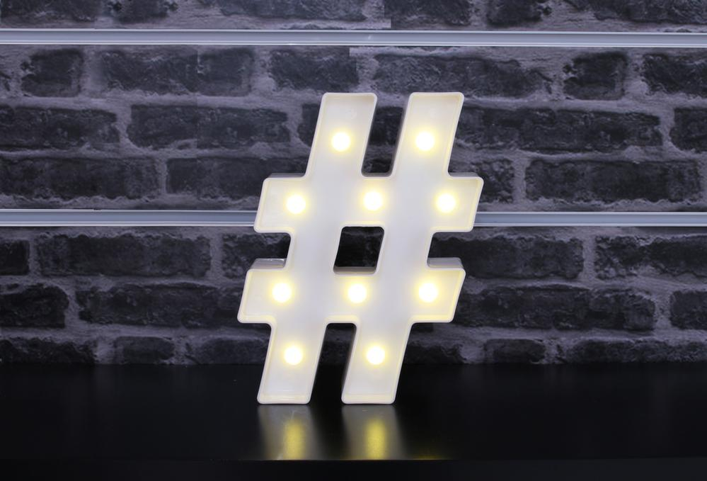 Tableau lumineux leds hashtag - Tableau led lumineux ...