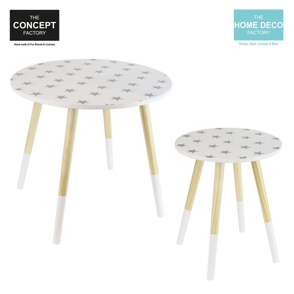 Tables gigones motif Etoiles (Lot de 2)-1