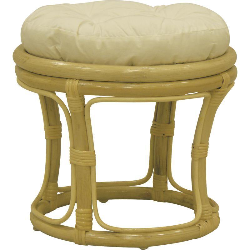 tabouret en rotin avec coussin naturel. Black Bedroom Furniture Sets. Home Design Ideas