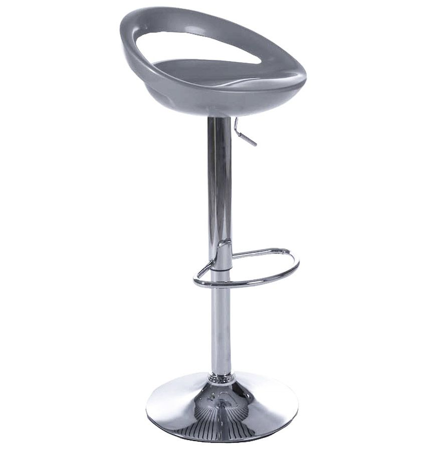 Tabouret de bar Bubble argent en ABS