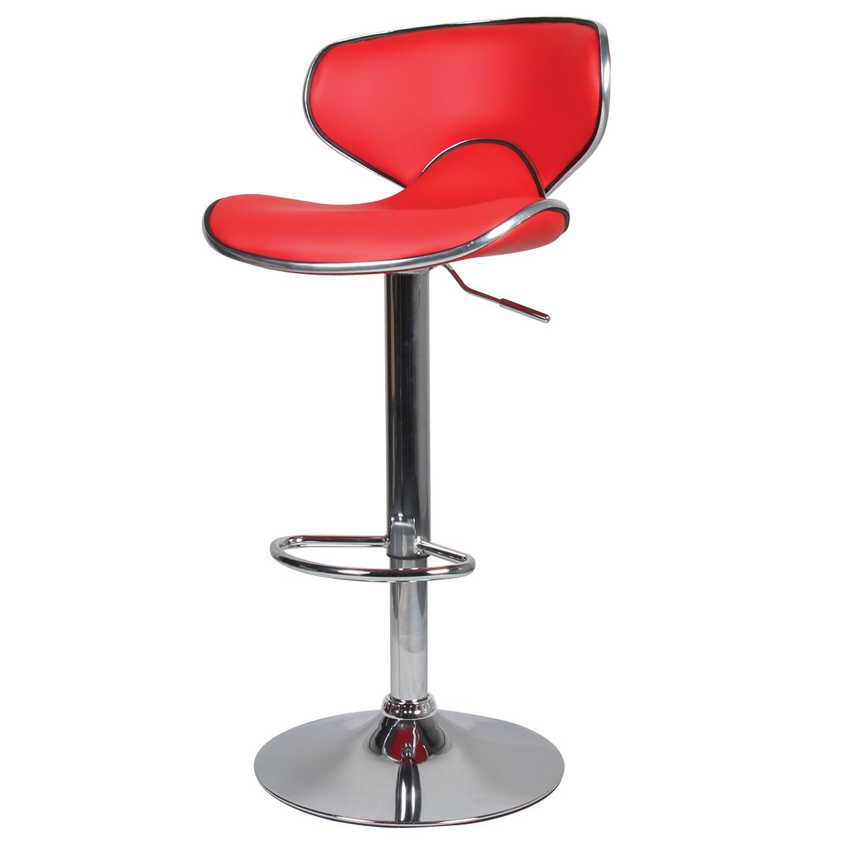 tabouret de bar aspect cuir ava lot de 2 rouge. Black Bedroom Furniture Sets. Home Design Ideas