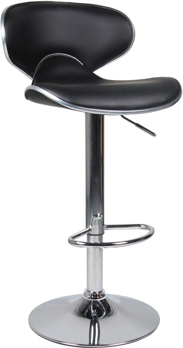 tabouret de bar aspect cuir ava lot de 2 noir. Black Bedroom Furniture Sets. Home Design Ideas
