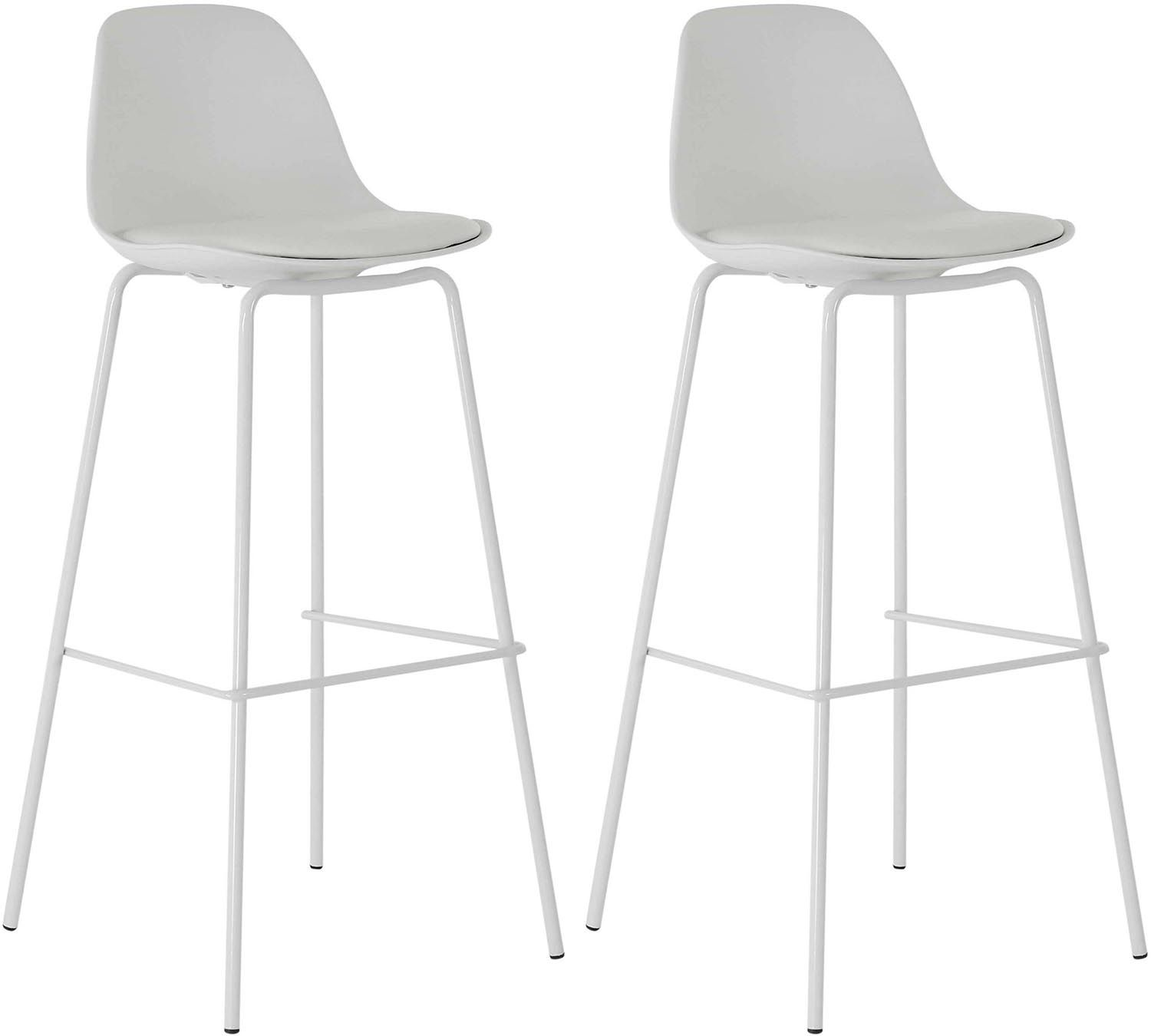 Tabouret de bar avec dossier ray lot de 2 for Tabouret bar dossier