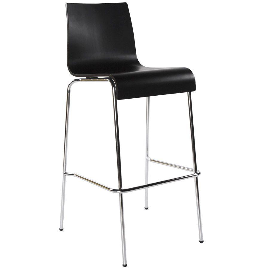 tabouret de bar empilable cobe noir. Black Bedroom Furniture Sets. Home Design Ideas