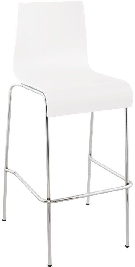 tabouret de bar empilable cobe blanc. Black Bedroom Furniture Sets. Home Design Ideas