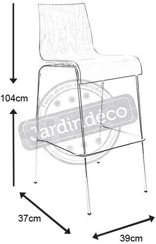 Tabouret de bar empilable Cobe-1