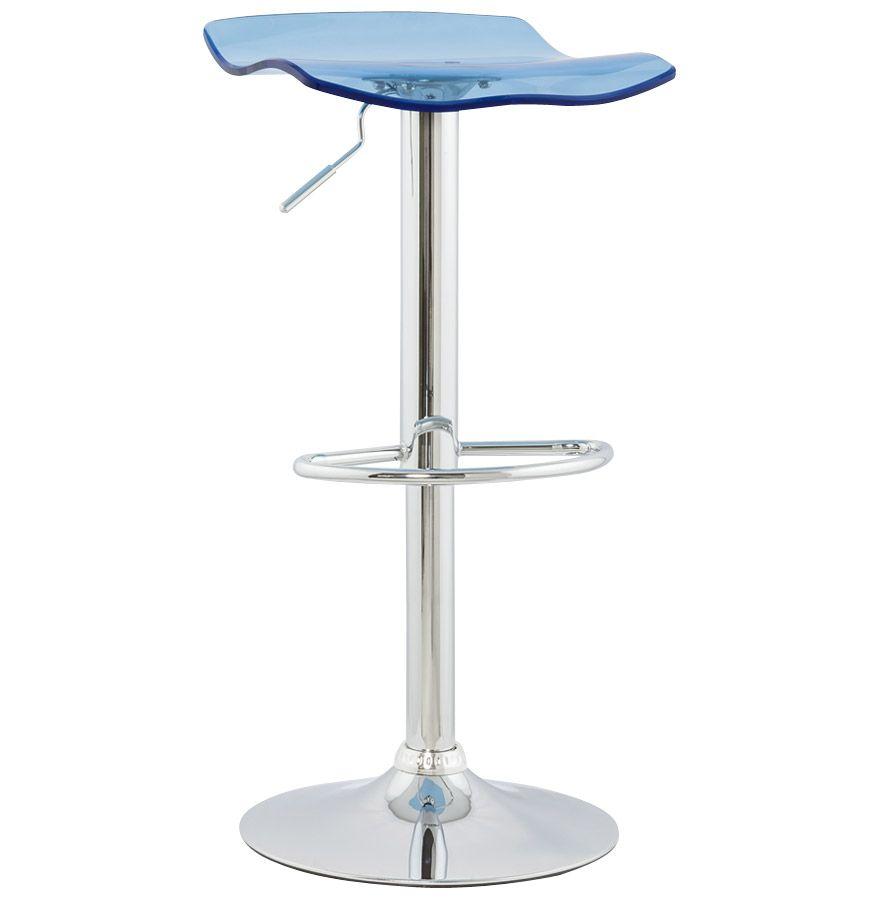 tabouret de bar plexiglass surf bleu. Black Bedroom Furniture Sets. Home Design Ideas