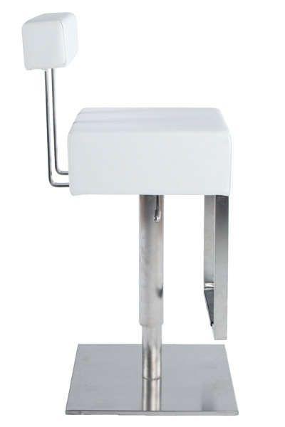 tabouret de bar avec repose pieds cubo blanc. Black Bedroom Furniture Sets. Home Design Ideas