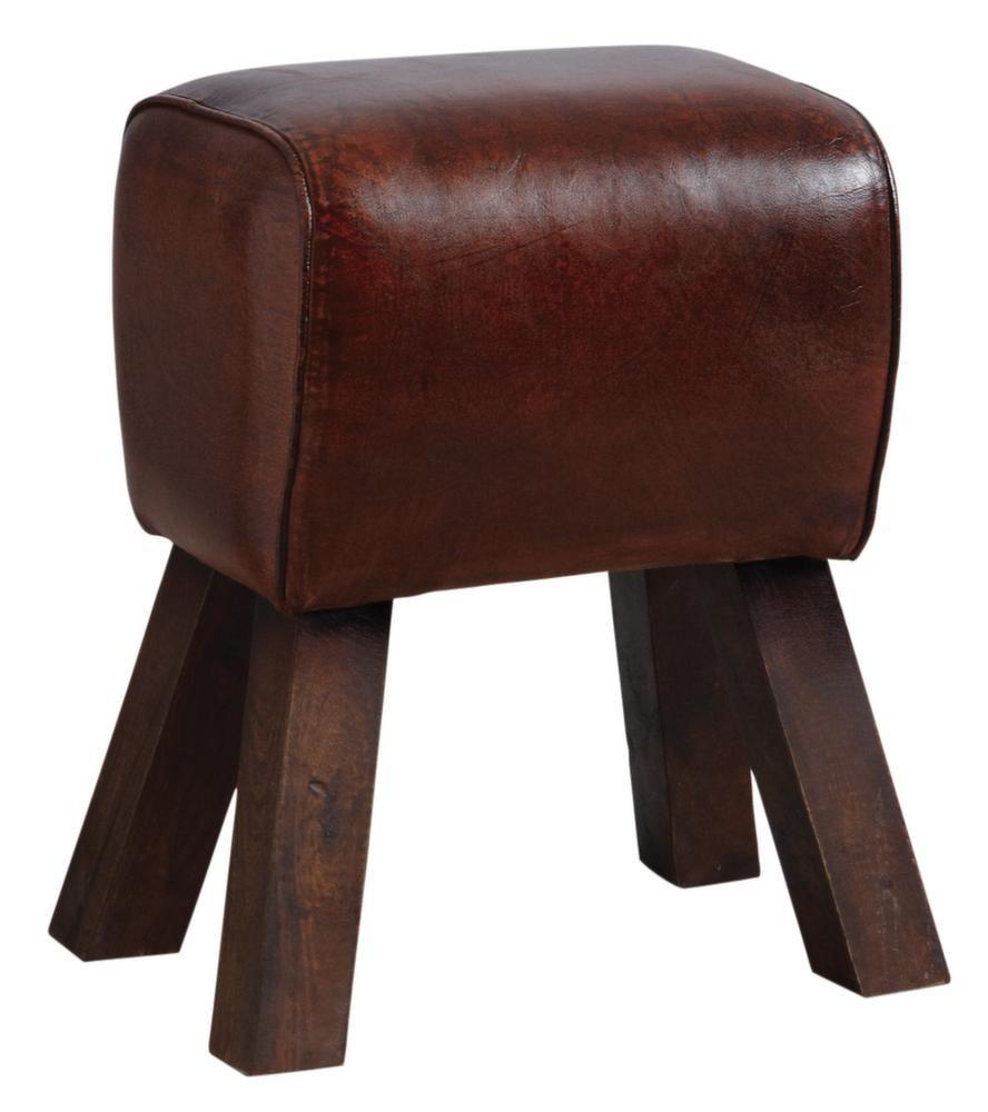 tabouret en cuir. Black Bedroom Furniture Sets. Home Design Ideas