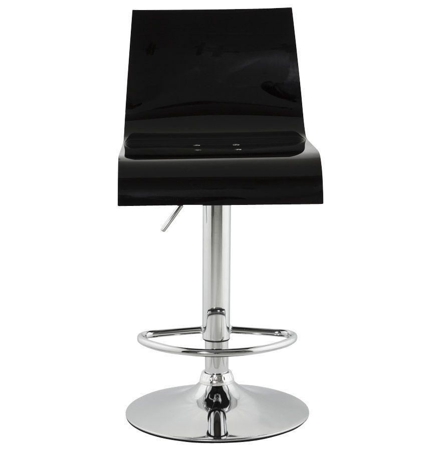 tabouret hauteur r glable plexi noir. Black Bedroom Furniture Sets. Home Design Ideas