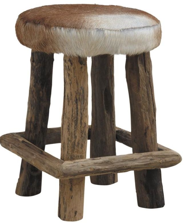 Tabouret peau de chevre Cow-Boy by Aubry gaspard