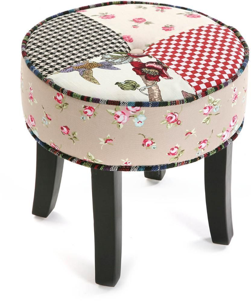 Tabouret rond Patchwork Romantic by Versa