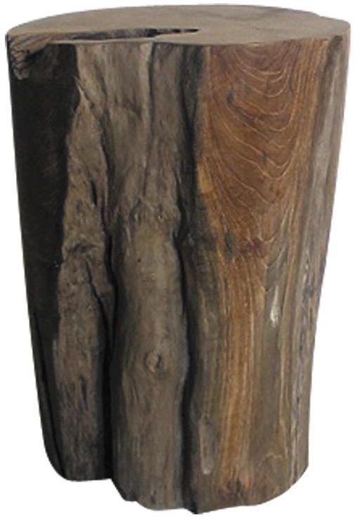 Tabouret en teck tronc - Meuble tronc arbre ...