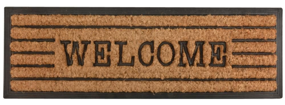 image_Tapis en fibres de coco inscription Welcome