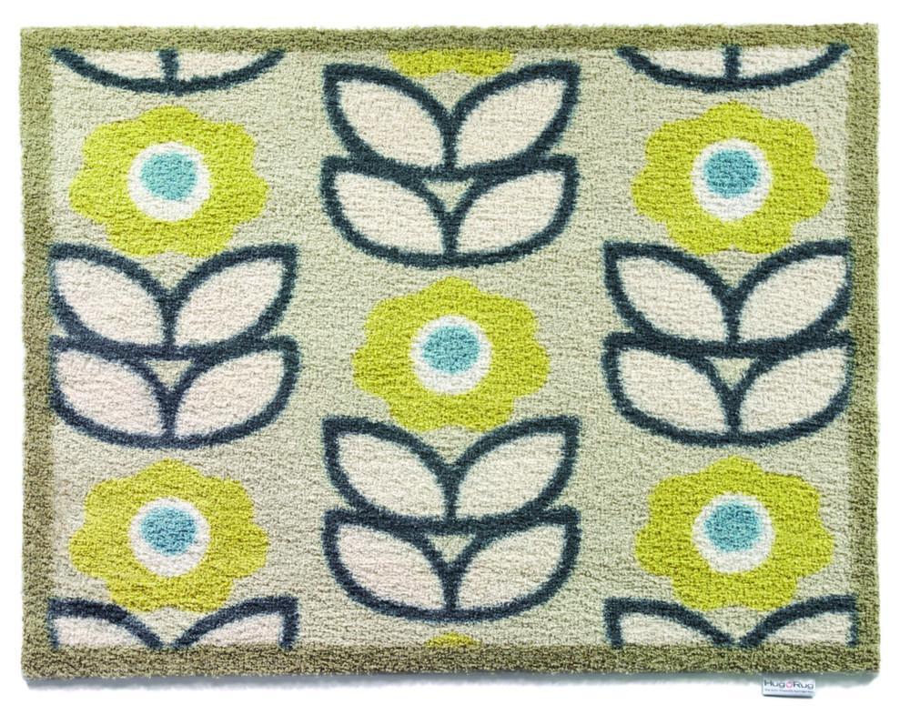 tapis en fibres naturelles motifs fleurs 65x85 cm. Black Bedroom Furniture Sets. Home Design Ideas