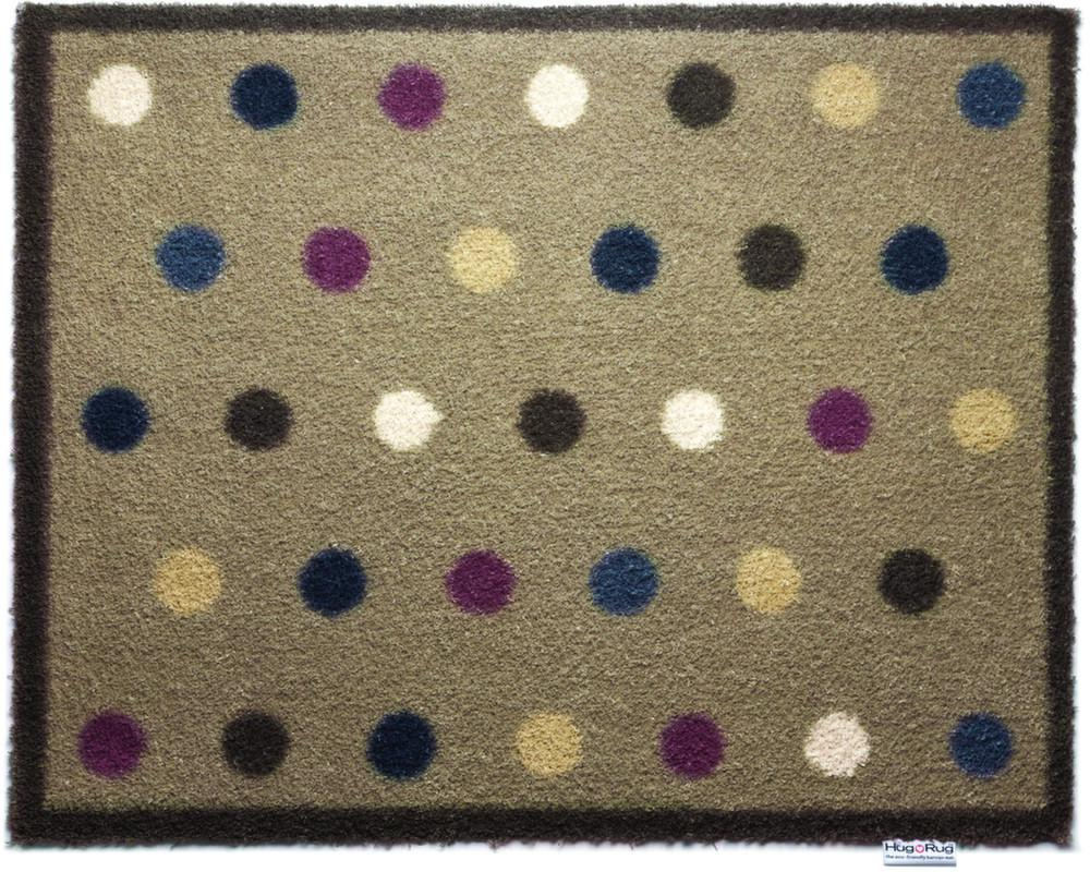 tapis en fibres naturelles 224 pois 65x85 cm