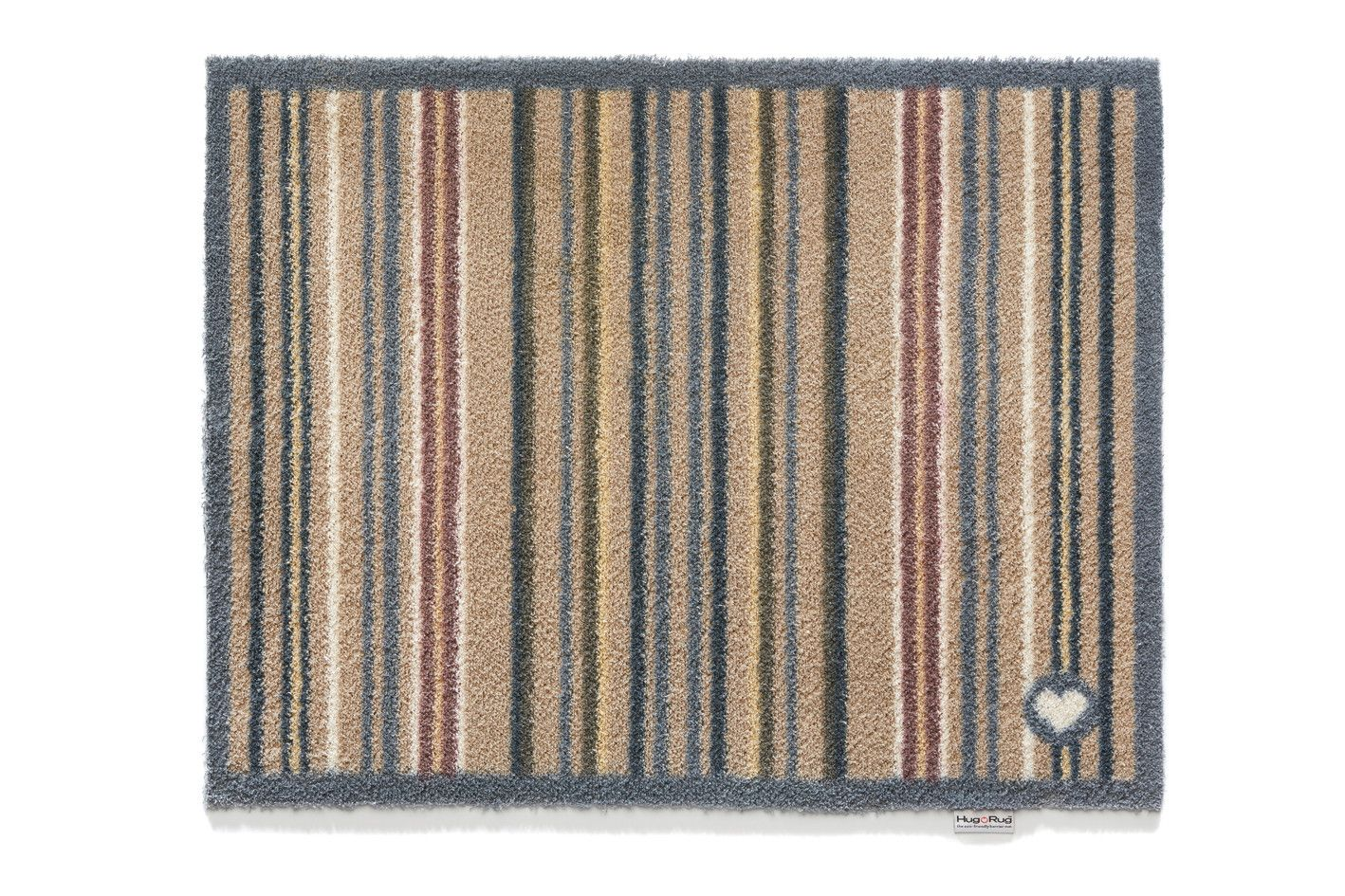 tapis en fibres naturelles 224 rayures 65x150 cm