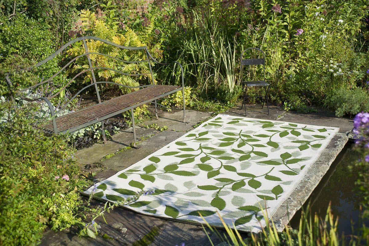 tapis int rieur ext rieur bali cr me et vert for t. Black Bedroom Furniture Sets. Home Design Ideas