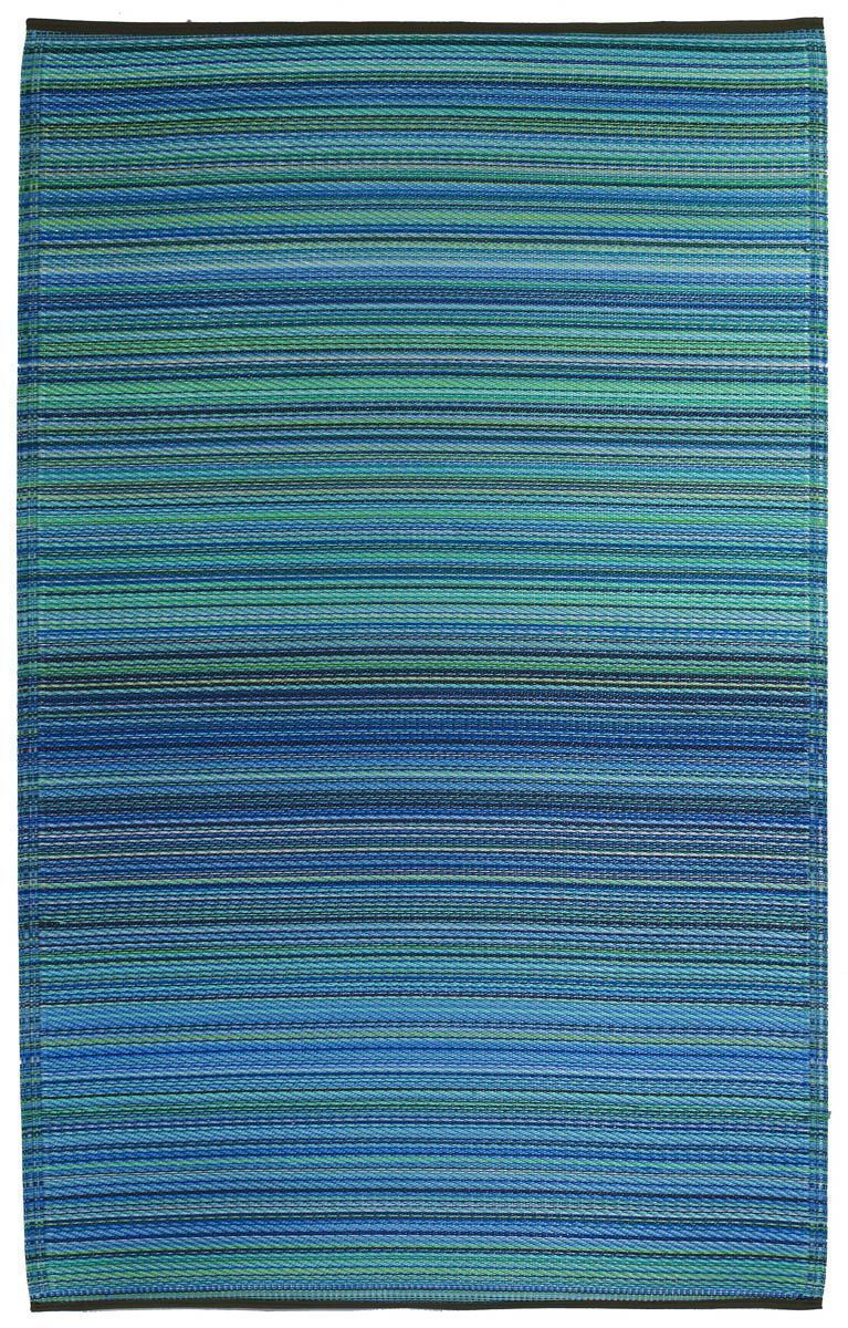 Tapis int rieur ext rieur cancun turquoise et vert moyen for Tapis vert turquoise
