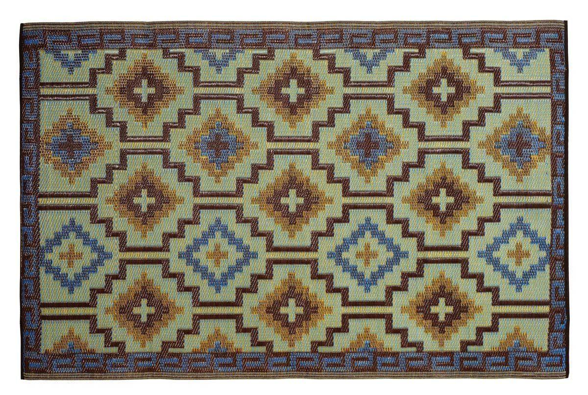 tapis int rieur ext rieur lhasa bleu roi et chocolat 150 x 90 cm. Black Bedroom Furniture Sets. Home Design Ideas