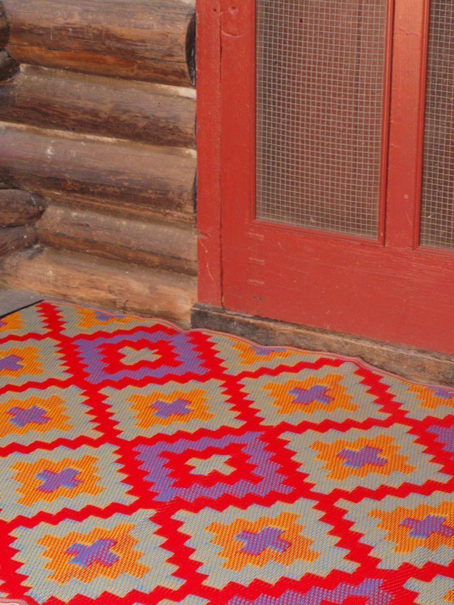 tapis int rieur ext rieur saman orange et violet 150 x 90 cm. Black Bedroom Furniture Sets. Home Design Ideas