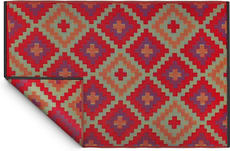 tapis int rieur ext rieur saman orange et violet 180 x 120 cm. Black Bedroom Furniture Sets. Home Design Ideas