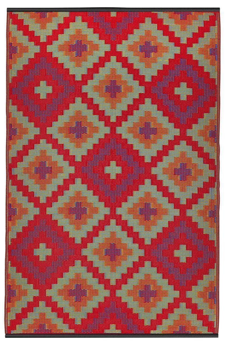 tapis int rieur ext rieur saman orange et violet petit. Black Bedroom Furniture Sets. Home Design Ideas