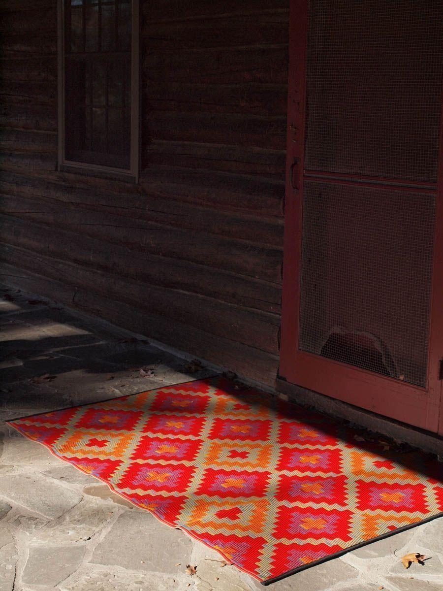 Tapis intérieur extérieur saman orange et violet