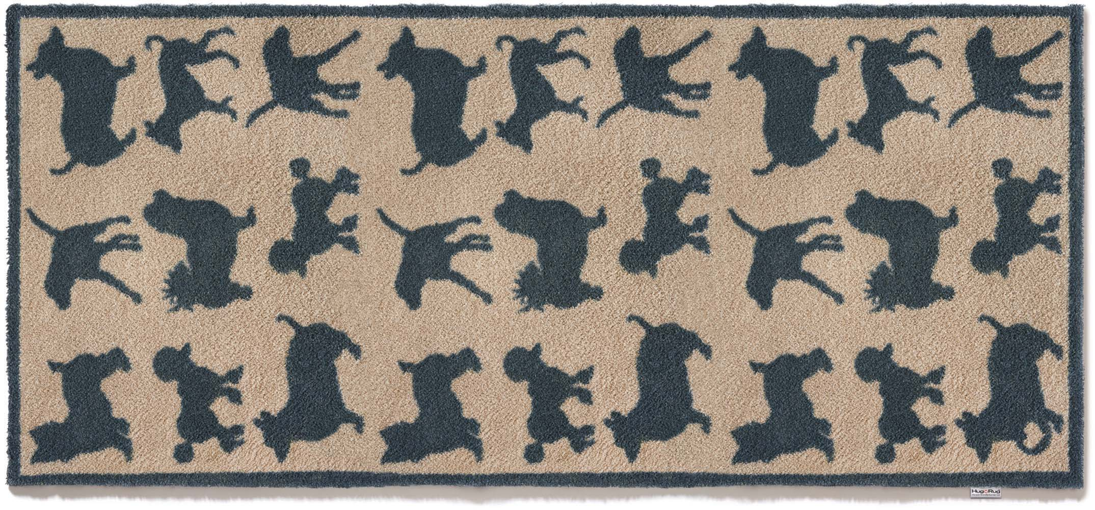 tapis paillasson pour la maison motif chien 65x150 cm. Black Bedroom Furniture Sets. Home Design Ideas