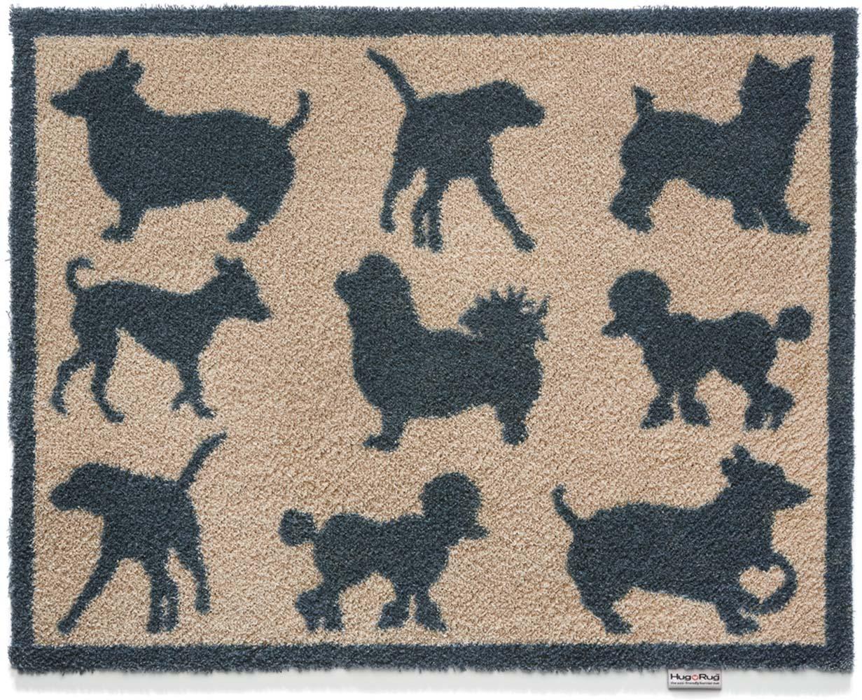 tapis paillasson pour la maison motif chien 65x85 cm. Black Bedroom Furniture Sets. Home Design Ideas