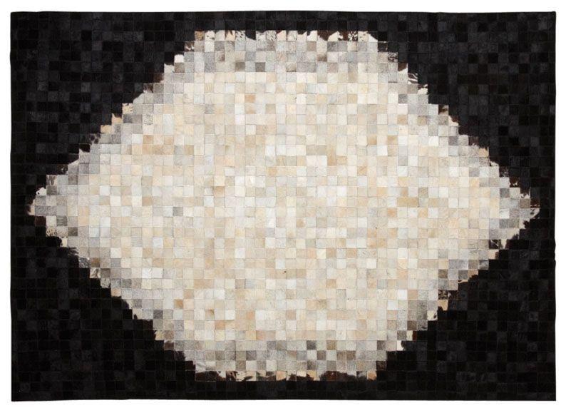 tapis en peau de vache noir et blanc - Tapis Noir Et Blanc
