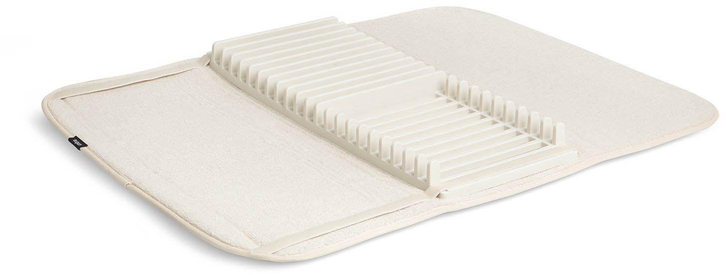 tapis de sechage vaisselle pliable udry creme
