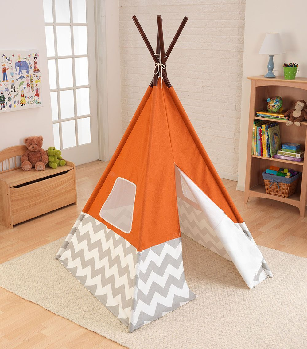 tipi enfant en toile et bambou. Black Bedroom Furniture Sets. Home Design Ideas