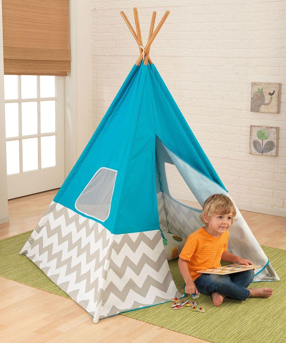 tipi enfant en toile et bambou. Black Bedroom Furniture Sets. Home Design Ideas
