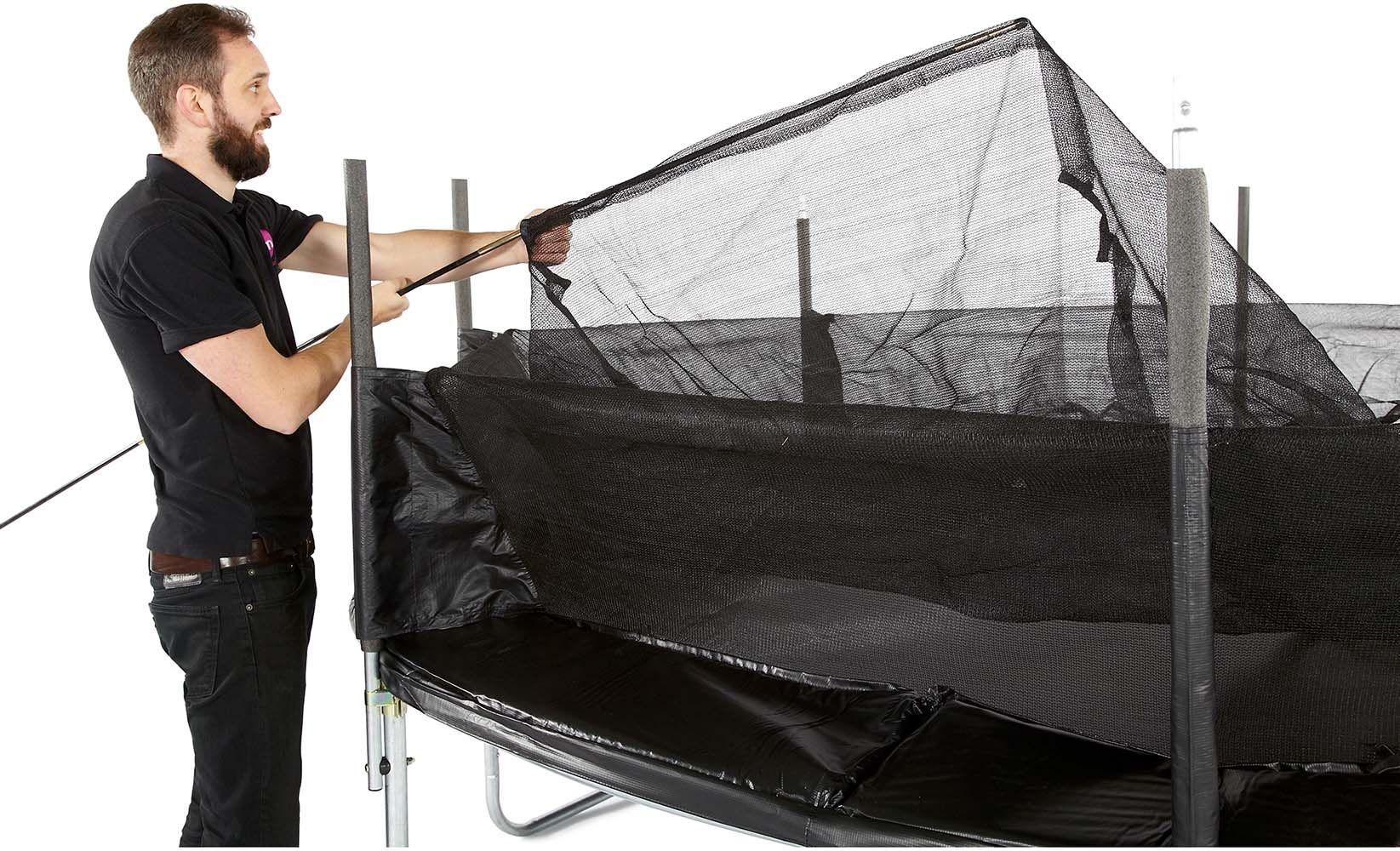 trampoline avec filet innovant 3g spacezone 244 cm. Black Bedroom Furniture Sets. Home Design Ideas