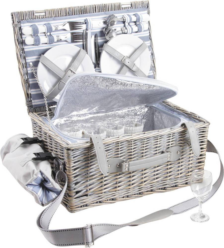 panier pique nique osier gris avec compartiment isotherme panier sac dos aubry gaspard sur. Black Bedroom Furniture Sets. Home Design Ideas