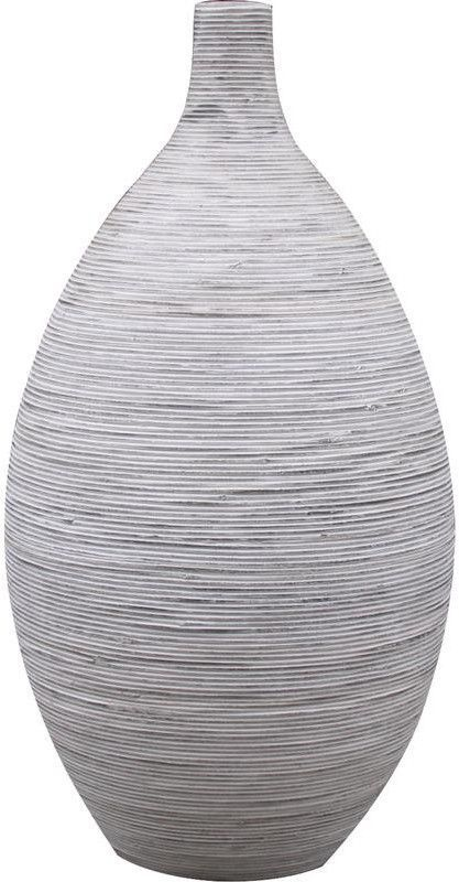 vase amphore en rotin blanc 42x81cm rotin aubry gaspard. Black Bedroom Furniture Sets. Home Design Ideas