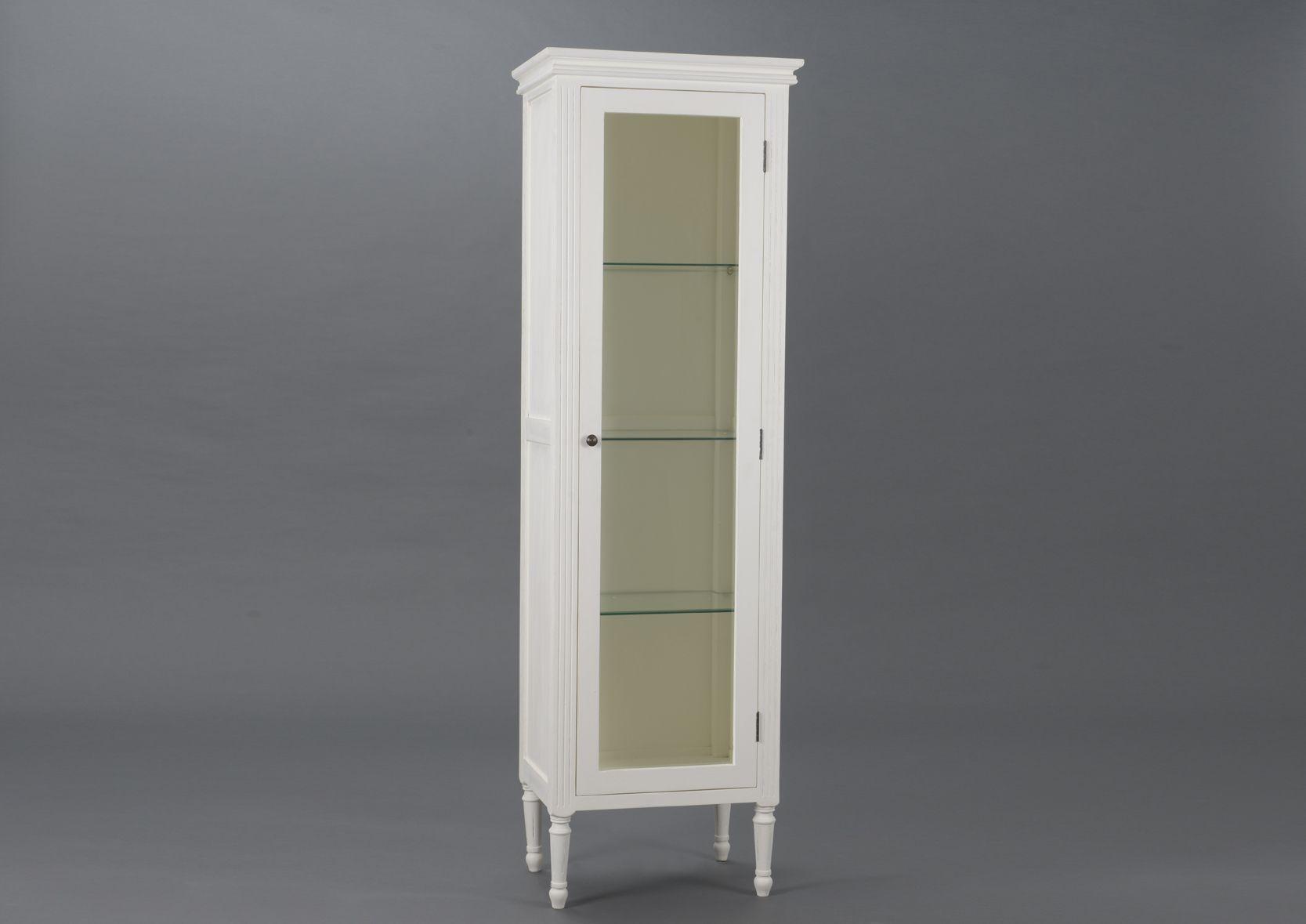 vitrine 1 porte en bois et mdf agathe. Black Bedroom Furniture Sets. Home Design Ideas