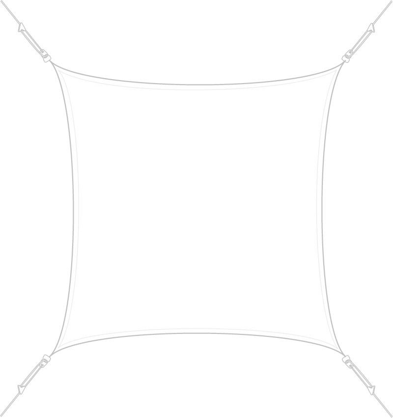 Voile d'ombrage carrée 3x3m by Easy sail