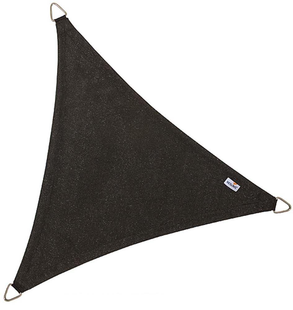 voile d 39 ombrage triangulaire coolfit noir 3 6 x 3 6 x 3 6 m. Black Bedroom Furniture Sets. Home Design Ideas