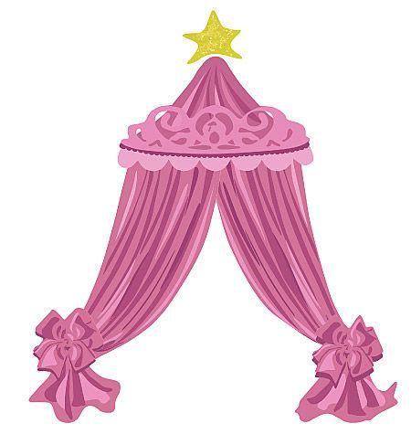 sticker ciel de lit princesse sticker d co wallies sur. Black Bedroom Furniture Sets. Home Design Ideas